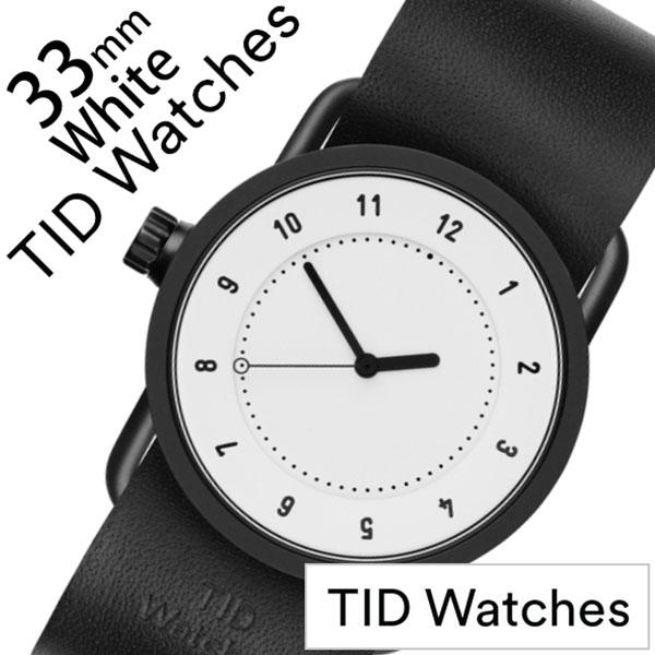 ティッドウォッチ No.1 33mm 腕時計 TID Watches 時計 レディース ホワイト TID01-WH33-BK [ 正規品 人気 ブランド シンプル 個性的 デザイナーズ アート ファッション お洒落 ミニマル おしゃれ 北欧 レザー 革 ペアウォッチ ギフト プレゼント ]