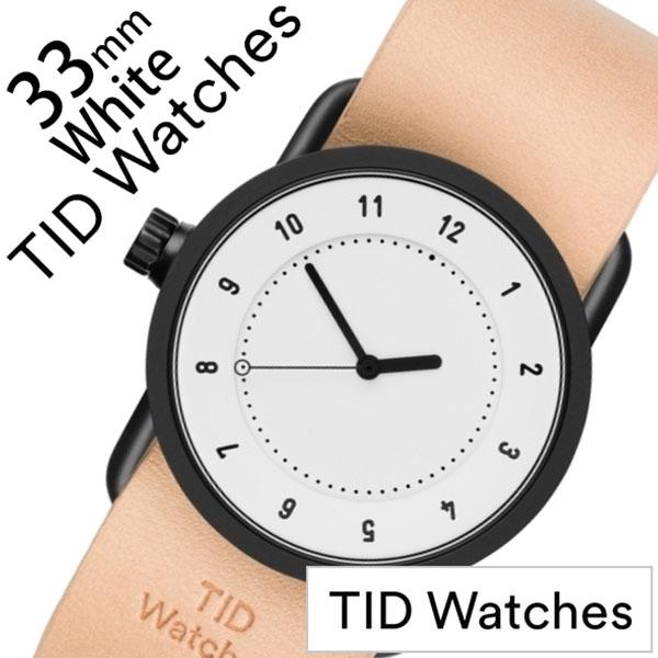 【5年保証対象】ティッドウォッチ 腕時計 TIDWatches 時計 ティッドウォッチ 時計 TIDWatches 腕時計 No.1 33mm レディース ホワイト TID01-WH33-N [ 正規品 人気 ブランド シンプル ミニマル おしゃれ 北欧 レザー 革 ペアウォッチ ギフト プレゼント ][送料無料]