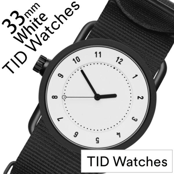 ティッドウォッチ No.1 33mm 腕時計 TID Watches 時計 レディース ホワイト TID01-WH33-NBK [ 正規品 人気 ブランド シンプル 個性的 デザイナーズ アート ファッション お洒落 ミニマル おしゃれ 北欧 ナイロン ペアウォッチ ギフト プレゼント ]