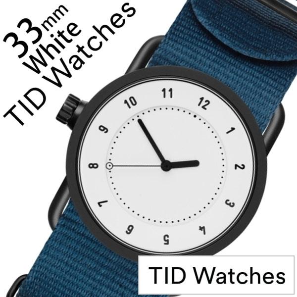 【5年保証対象】ティッドウォッチ 腕時計 TIDWatches 時計 ティッドウォッチ 時計 TIDWatches 腕時計 No.1 33mm レディース ホワイト TID01-WH33-NBL [ 正規品 人気 ブランド シンプル ミニマル おしゃれ 北欧 ナイロン ペアウォッチ ギフト プレゼント ][送料無料]