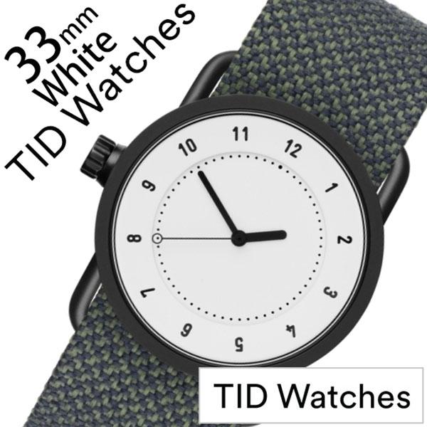 ティッドウォッチ No.1 33mm 腕時計 TID Watches 時計 レディース ホワイト TID01-WH33-PINE[正規品 人気 ブランド シンプル 個性的 デザイナーズ アート ファッション お洒落 おしゃれ 北欧 レザー 革 Kvadrat クヴァドラ ペアウォッチ ギフト プレゼント ]