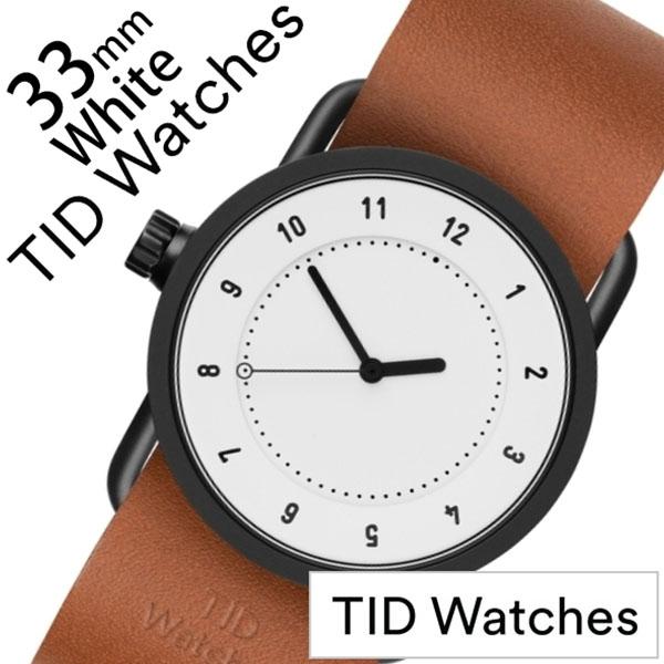 【5年保証対象】ティッドウォッチ 腕時計 TIDWatches 時計 ティッドウォッチ 時計 TIDWatches 腕時計 No.1 33mm レディース ホワイト TID01-WH33-T [ 正規品 人気 ブランド シンプル ミニマル おしゃれ 北欧 レザー 革 ペアウォッチ ギフト プレゼント ][送料無料]
