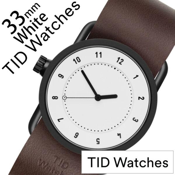 ティッドウォッチ No.1 33mm 腕時計 TID Watches 時計 レディース ホワイト TID01-WH33-W [ 正規品 人気 ブランド シンプル 個性的 デザイナーズ アート ファッション お洒落 ミニマル おしゃれ 北欧 レザー 革 ペアウォッチ ギフト プレゼント ]