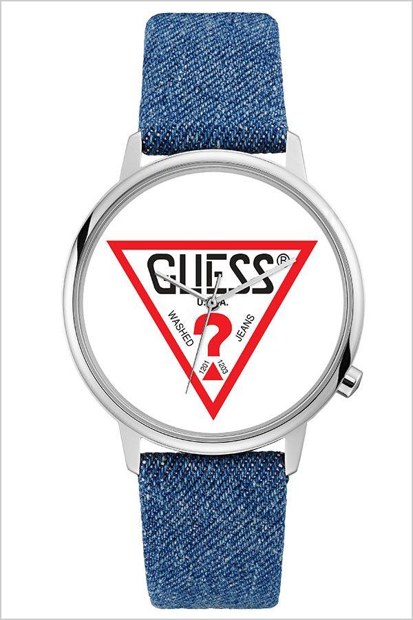 【5年保証対象】ゲス 腕時計 GUESS 時計 ゲス 時計 GUESS 腕時計 ハリウッド Hollywood ユニセックス メンズ レディース ホワイト V1001M1 [ 正規品 人気 ブランド ペア 防水 ファッション ブルー デニム レザー 革 ペアウォッチ ギフト プレゼント ][]