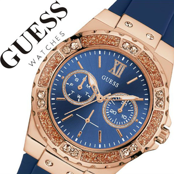 076531aa7 ゲス watch GUESS clock ゲス clock GUESS watch limelight LIMELIGHT Lady's blue  W1053L1 [brand pair ...