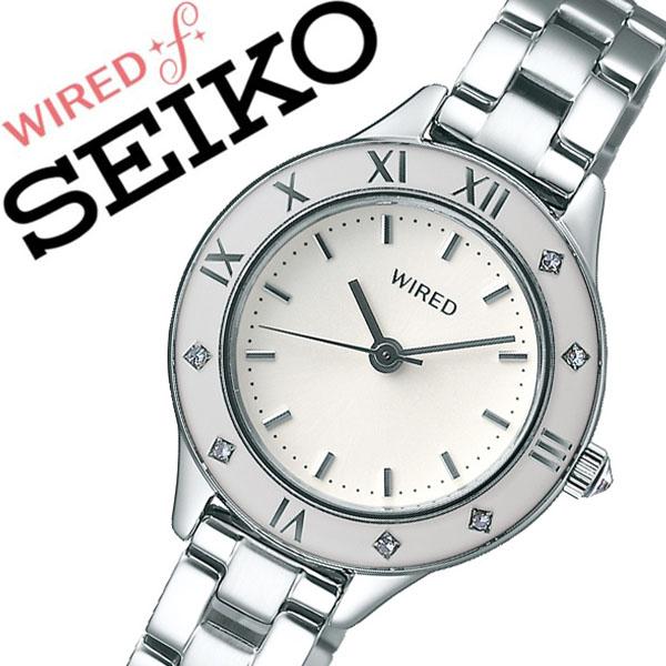 セイコー ワイアード 腕時計 SEIKO WIRED 時計 セイコー 時計 SEIKO 腕時計 レディース ホワイト AGEK440 スワロフスキー クリスタル プレゼント ギフト シンプル ラウンド ワイアードエフ ビジネス ファッション カジュアル 送料無料