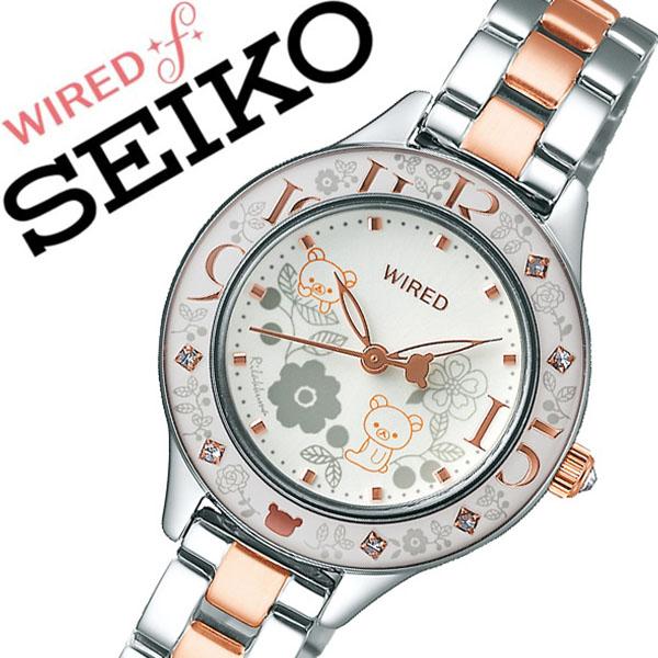 セイコー ワイアード 腕時計 SEIKO WIRED 時計 セイコー 時計 SEIKO 腕時計 レディース シルバー AGEK743 スワロフスキー クリスタル ゴールド プレゼント リラックマ キャラクター 限定 ギフト シンプル ラウンド ワイアードエフ かわいい ファッション カジュアル 送料無料