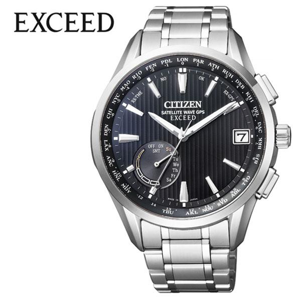 シチズン 腕時計 CITIZEN 時計 シチズン 時計 CITIZEN 腕時計 エクシード EXCEED メンズ ブラック CC3050-56F アナログ ラウンド エコ ドライブ GPS 人気 おしゃれ ファッション ブランド ビジネス ギフト 送料無料