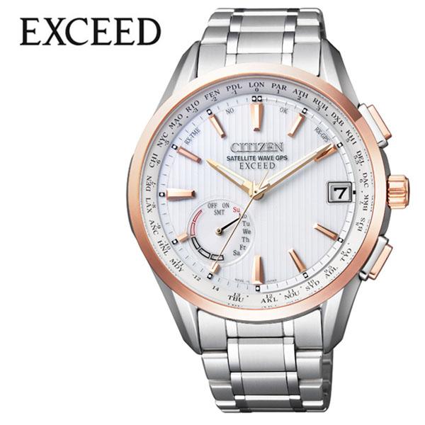 シチズン 腕時計 CITIZEN 時計 シチズン 時計 CITIZEN 腕時計 エクシード EXCEED メンズ ホワイト CC3054-55B アナログ ラウンド ゴールド エコ ドライブ GPS 人気 おしゃれ ファッション ブランド ビジネス ギフト 送料無料