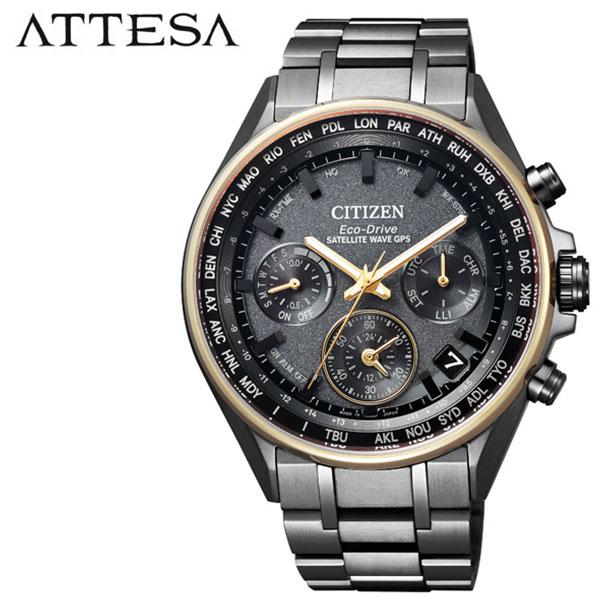 シチズン 腕時計 CITIZEN 時計 シチズン 時計 CITIZEN 腕時計 アテッサ ATTESA メンズ ブラック CC4004-58F アナログ ラウンド ゴールド 人気 クロノ おしゃれ ファッション ブランド ビジネス ギフト 送料無料