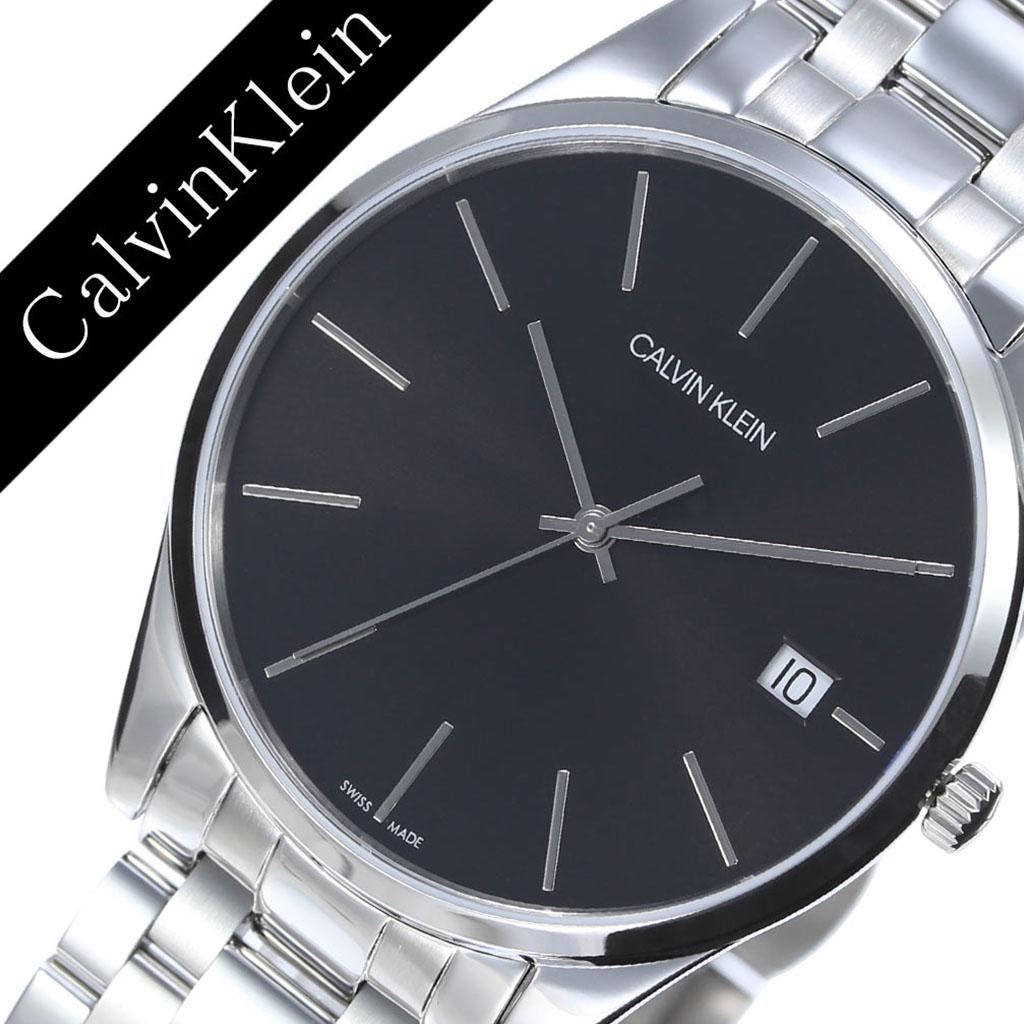 [当日出荷] カルバンクライン 腕時計 CalvinKlein 時計 カルバン クライン 時計 Calvin Klein 腕時計 カルバンクライン時計 タイム Time メンズ K4N21141 アナログ シルバー ブラック ck シーケー シンプル ファッション ビジネス ブランド ギフト 送料無料