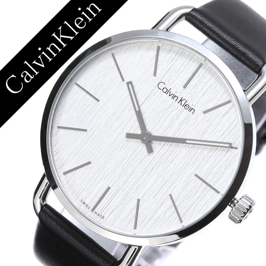 カルバンクライン 腕時計 CalvinKlein 時計 カルバン クライン 時計 Calvin Klein 腕時計 カルバンクライン時計 イーブン Even メンズ K7B211C6 アナログ 革ベルト レザー ホワイト ブラック シルバー ck シーケー 人気 ファッション ビジネス ブランド ギフト