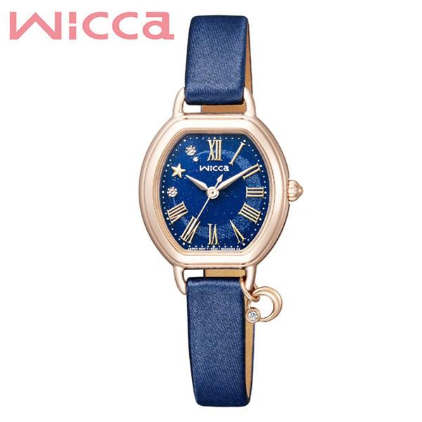 シチズン 腕時計 CITIZEN 時計 シチズン 時計 CITIZEN 腕時計 ウィッカ wicca レディース ネイビー KP2-523-70 アナログ ゴールド 革 サテン スワロフスキー 人気 おしゃれ ファッション ブランド ビジネス ギフト 送料無料