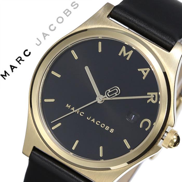 マークジェイコブス 腕時計 MarcJacobs 時計 マーク ジェイコブス 時計 Marc Jacobs 腕時計 マークバイマークジェイコブス ヘンリー HENRY レディース ブラック MJ1608 ブランド ゴールド 人気 レザー ベルト シンプル カレンダー かわいい おしゃれ ご褒美 送料無料