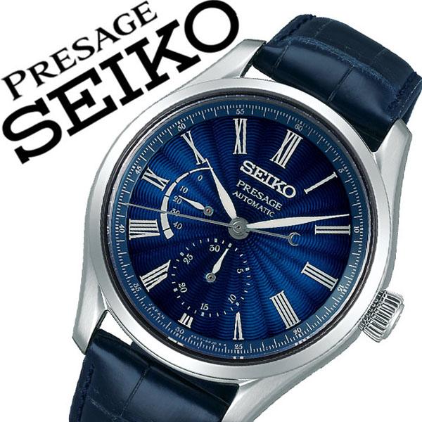 セイコー プレザージュ 腕時計 SEIKO PRESAGE 時計 セイコー 時計 SEIKO 腕時計 メンズ ネイビー SARW039 ラウンド クロノ スモールセコンド ギフト カレンダー ビジネス ファッション カジュアル プレゼント ギフト 送料無料