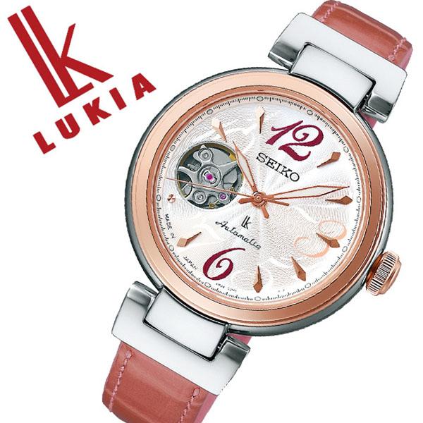 セイコー ルキア 腕時計 SEIKO LUKIA 時計 レディース シルバー SSVM048[自動巻き 機械式 オートマチック オープンハート ゴールド レザー シンプル ラウンド かわいい カレンダー ファッション カジュアル ビジネス プレゼント ギフト]