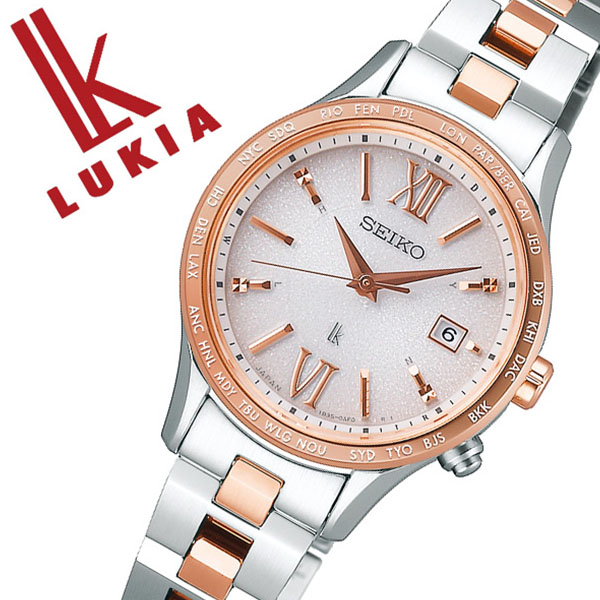 セイコー ルキア 腕時計 SEIKO LUKIA 時計 セイコー 時計 SEIKO 腕時計 レディース ピンク SSVV036 ゴールド シンプル プレゼント ギフト ラウンド かわいい カレンダー ファッション カジュアル ビジネス 送料無料
