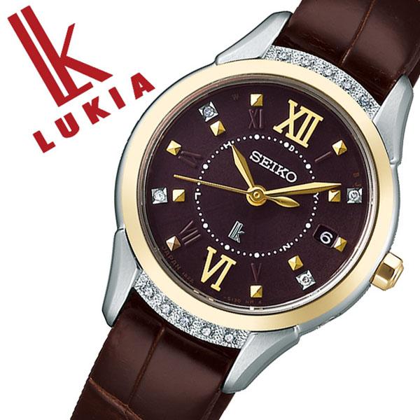 セイコー ルキア 腕時計 SEIKO LUKIA 時計 セイコー 時計 SEIKO 腕時計 レディース ブラウン SSVW142 ダイヤ ゴールド シンプル カレンダー 限定 プレゼント ギフト ダイヤ かわいい ファッション カジュアル 送料無料