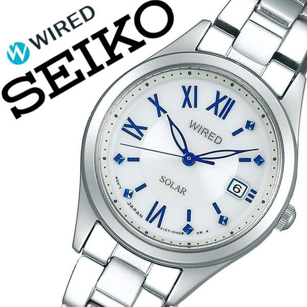 【5年保証対象】セイコー 腕時計 SEIKO 時計 セイコー 時計 SEIKO 腕時計 ワイアード WIRED レディース ホワイト AGED104 アナログ ペア ソーラー プレゼント ギフト ラウンド かわいい シンプル ビジネス ファッション カジュアル 人気 送料無料