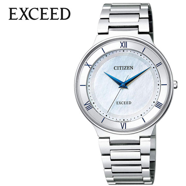 シチズン 腕時計 CITIZEN 時計 シチズン 時計 CITIZEN 腕時計 エクシード EXCEED メンズ ホワイト AR0080-58A アナログ ブルー プレゼント ギフト シンプル 人気 ラウンド ビジネス ファッション カジュアル 送料無料
