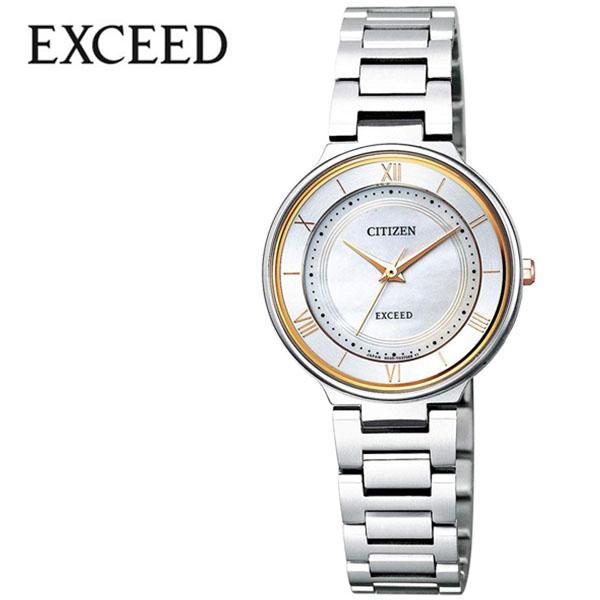 シチズン 腕時計 CITIZEN 時計 シチズン 時計 CITIZEN 腕時計 エクシード EXCEED レディース ホワイト EX2090-57P アナログ ゴールド プレゼント ギフト シンプル 人気 ラウンド ビジネス ファッション カジュアル 送料無料