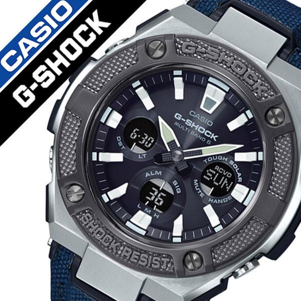 カシオ ジーショック ジースチール 腕時計 CASIO G-SHOCK G-STEEL 時計 ジースティール GSTEEL メンズ ブラック GST-W330AC-2AJF Gスチール ミリタリー ブランド 防水 デジタル GST-W330 アラーム ストップウォッチ 頑丈 人気 ソーラー 電波 送料無料