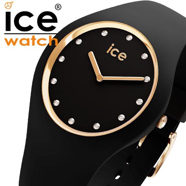 アイスウォッチ コスモ 時計 ICE WATCH ICE cosmos 腕時計 ブラック ゴールド Black Gold ユニセックス ブラック ICE-016295[コスモス ブランド ゴールド スワロフスキー クリスタル カジュアル ファッション シンプル ラウンド アナログ 人気 プレゼント ギフト]