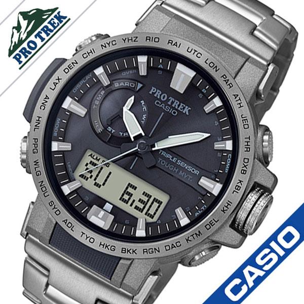 89d9c2f3a5 カシオプロトレック腕時計CASIOPROTREK時計クライマーラインClimberLineメンズブラックPRW-60T-7AJF ...