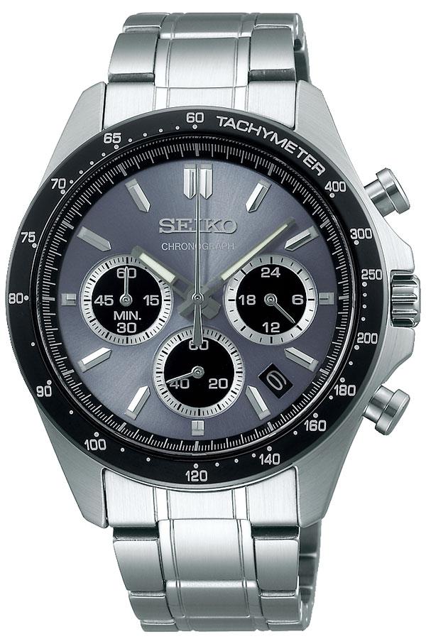 セイコー 腕時計 SEIKO 時計 セイコー 時計 SEIKO 腕時計 メンズ グレー SBTR027 旦那 夫 彼氏 ビジネス 仕事 スーツ クロノ クロノグラフ フォーマル 就活 社会人 高級感 カジュアル おしゃれ メタル