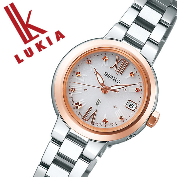 セイコー 腕時計 SEIKO 時計 セイコー 時計 SEIKO 腕時計 ルキア LUKIA レディース ホワイト SSVW138 ソーラー 電波 おしゃれ かわいい ファッション ビジネス スーツ ラウンド 女性 仕事 送料無料