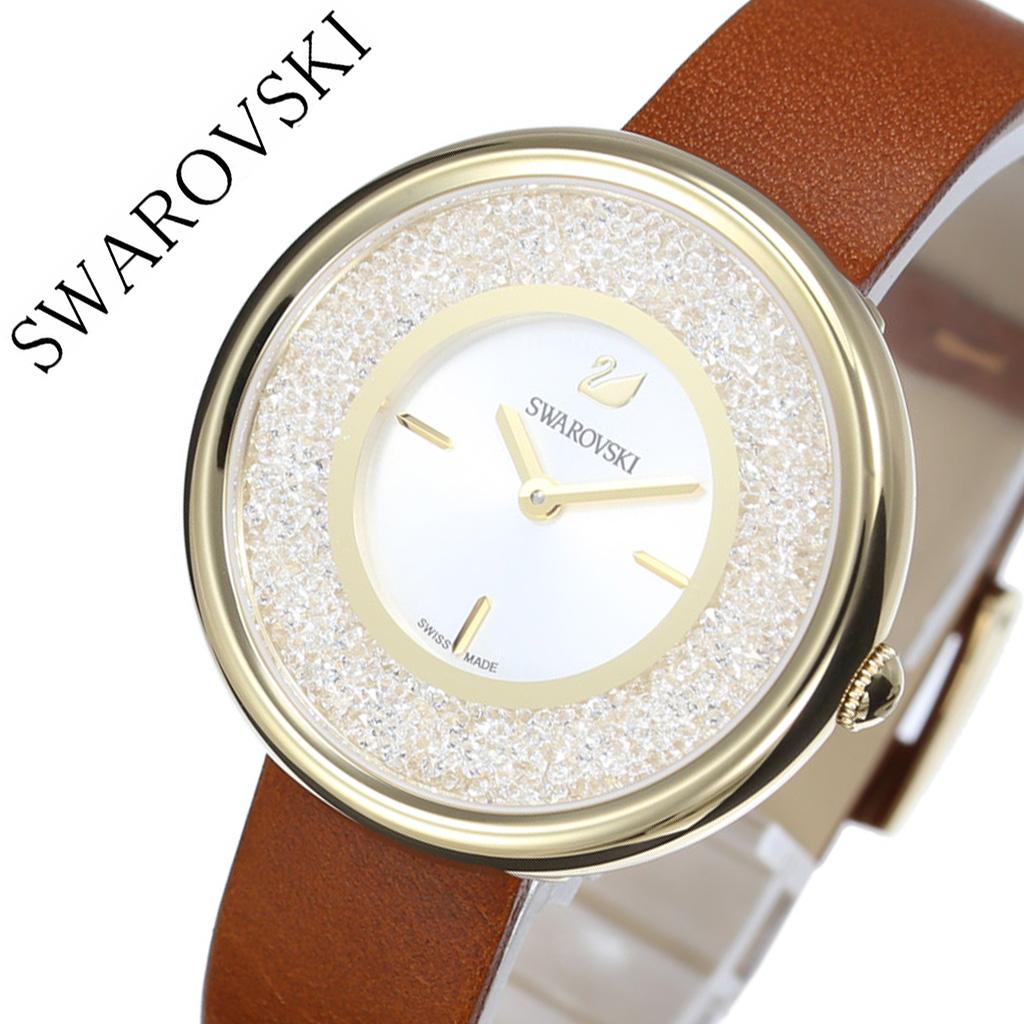 40cc02a8e8cc スワロフスキー腕時計Swarovski時計クリスタルラインピュアCrystallinePureレディース女性向け彼女妻嫁シルバー5275040