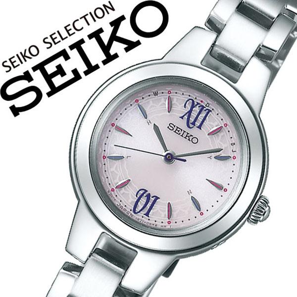 セイコー 腕時計 SEIKO 時計 セイコー 時計 SEIKO 腕時計 セレクション SELECTION レディース ホワイト SWFH101 ソーラー 電波 ベリー イチゴ かわいい おしゃれ ファッション ビジネス 送料無料
