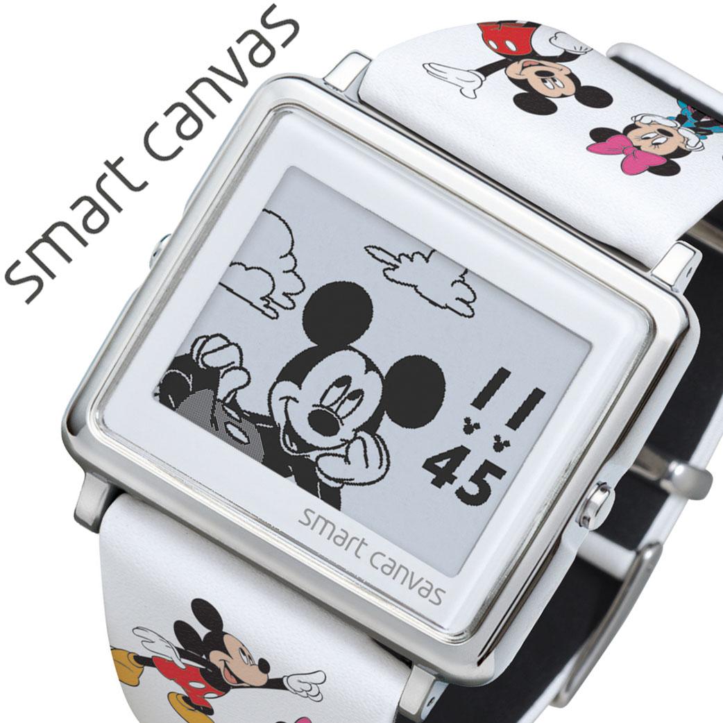 エプソン スマートキャンバス 腕時計 EPSON SmartCanvas 時計 スマート キャンバス Smart Canvas スマートキャンパス ミッキーと仲間たち Mickey&Friends メンズ レディース 液晶 W1-DY3045L 正規品 ブランド 置き時計 キャラクター ディズニー Disney 送料無料