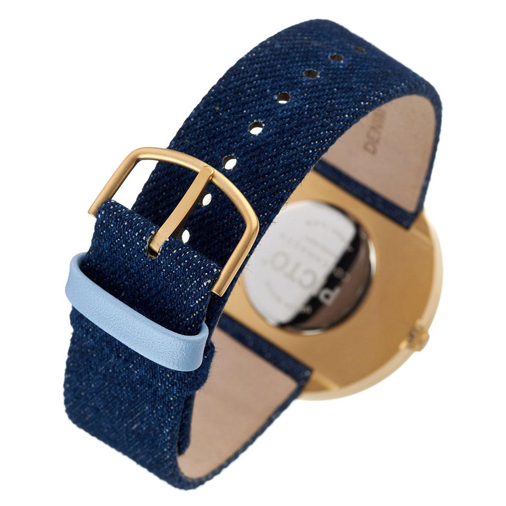 ピクト 腕時計 PICTO 時計 ピクト時計 ピクト腕時計 ゴールドケース アンド デニムストラップ GOLD CASE & DEMIN STRAP メンズ レディース ブルー 43332-5220MG 人気 おしゃれ トレンド おすすめ 北欧 ゴールド ブランド シンプル アナログ カジュアル プレゼント