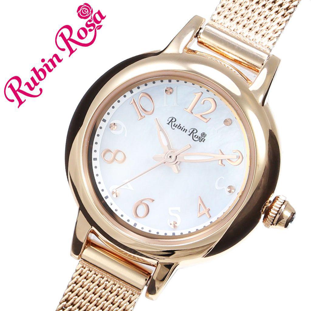 【5年保証対象】ルビンローザ 腕時計 RubinRosa 時計 ルビン ローザ Rubin Rosa レディース 女性 用 ホワイト R202PWH 新作 人気 おすすめ ブランド ステンレス メタル メッシュ ベルト ソーラー シェル 蝶貝 ジルコニア 就活 仕事 おしゃれ かわいい プレゼント