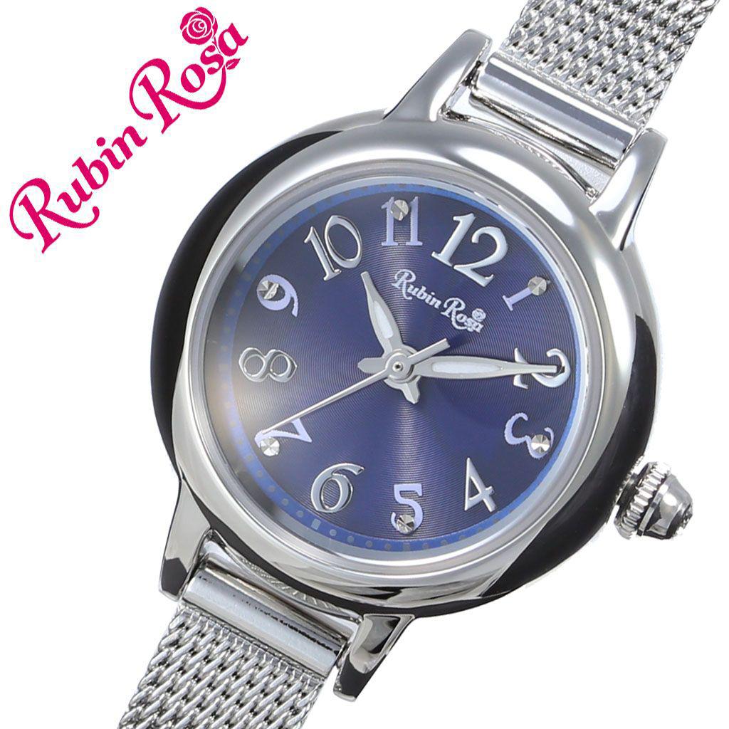 【5年保証対象】ルビンローザ 腕時計 RubinRosa 時計 ルビン ローザ Rubin Rosa レディース 女性 用 ブルー R202SBL 新作 人気 おすすめ ブランド ステンレス メタル メッシュ ベルト ソーラー シェル 蝶貝 ジルコニア 就活 仕事 おしゃれ かわいい プレゼント