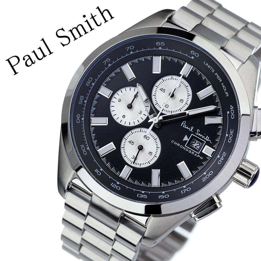 ポールスミス 腕時計 Paulsmith 時計 ポール スミス Paul smith ポールスミス時計 メンズ 男性 用 彼氏 夫 旦那 ブラック PS0110014 人気 お洒落 流行 ブランド クロノグラフ シンプル ビジネス スーツ プレゼント 送料無料