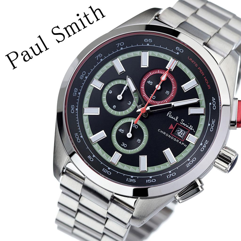 ポールスミス 腕時計 Paulsmith 時計 ポール スミス Paul smith ポールスミス時計 メンズ 男性 用 彼氏 夫 旦那 ブラック PS0110015 人気 お洒落 流行 ブランド クロノグラフ シンプル ビジネス スーツ プレゼント 送料無料