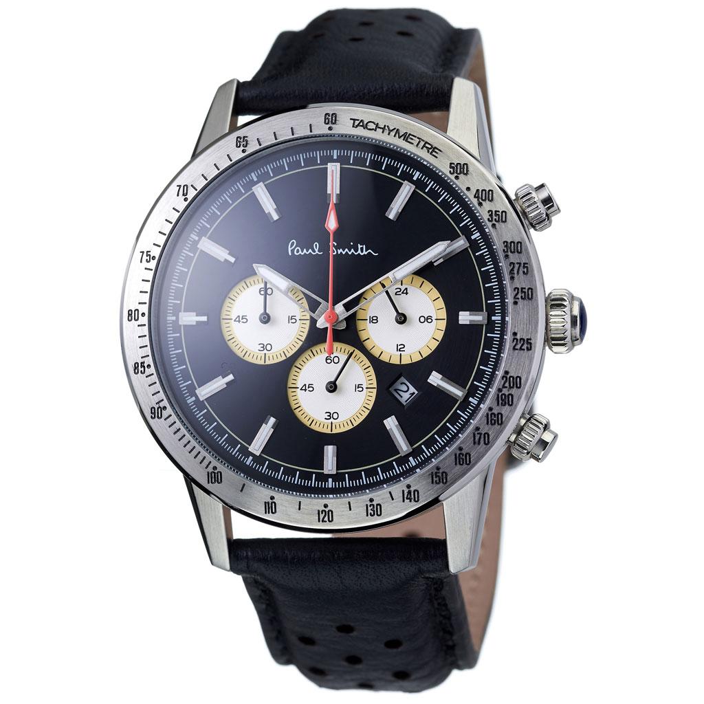 ポールスミス 腕時計 Paulsmith 時計 ポール スミス Paul smith ポールスミス時計 メンズ 男性 用 彼氏 夫 旦那 ブラック PS110001 人気 お洒落 流行 ブランド クロノグラフ シンプル ビジネス スーツ プレゼント