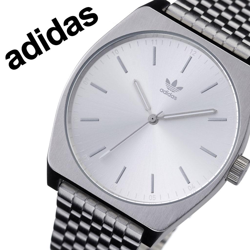 アディダス オリジナルス 腕時計 adidas Originals 時計 アディダス時計 adidas腕時計 プロセスエム1 Process_M1 メンズ レディース 男性 女性 シルバー Z02-1920-00 人気 おしゃれ ブランド ラウンド シンプル アナログ カジュアル スポーツ ウォッチ ギフト プレゼント