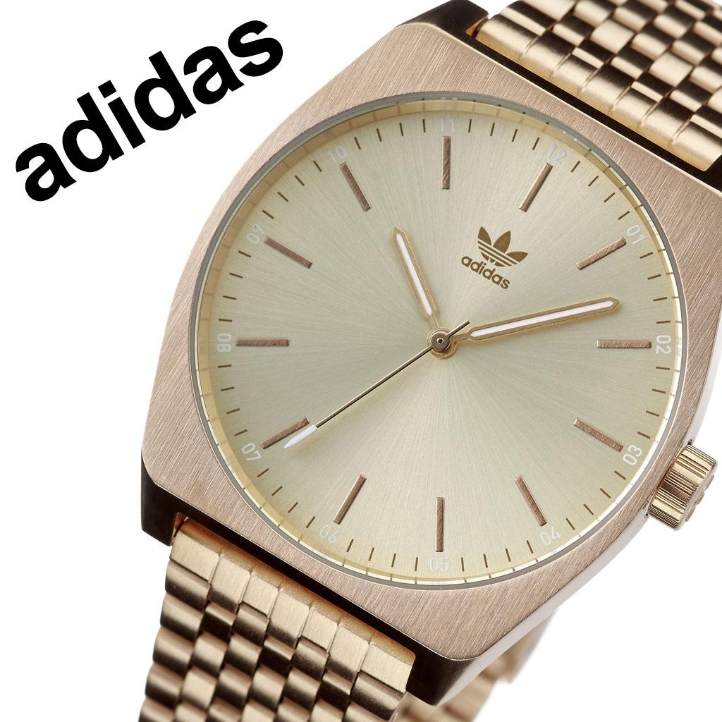 アディダス オリジナルス 腕時計 adidas Originals 時計 アディダス時計 adidas腕時計 プロセスエム1 Process_M1 メンズ レディース 男性 女性 ゴールド Z02-502-00 人気 おしゃれ ブランド ラウンド シンプル アナログ カジュアル スポーツ ウォッチ ギフト プレゼント