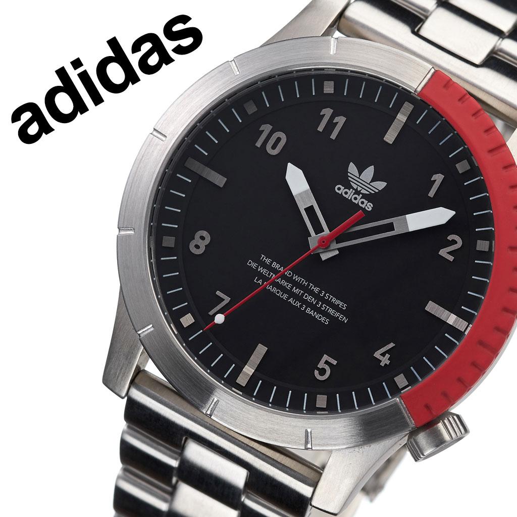 【2,500円引き】アディダス オリジナルス 腕時計 adidas Originals 時計 アディダス時計 サイファーエム1 Cypher_M1 メンズ レディース 男性 女性 ブラック Z03-2958-00 人気 お洒落 ブランド レッド ラウンド シンプル カジュアル スポーツ ウォッチ ギフト プレゼント