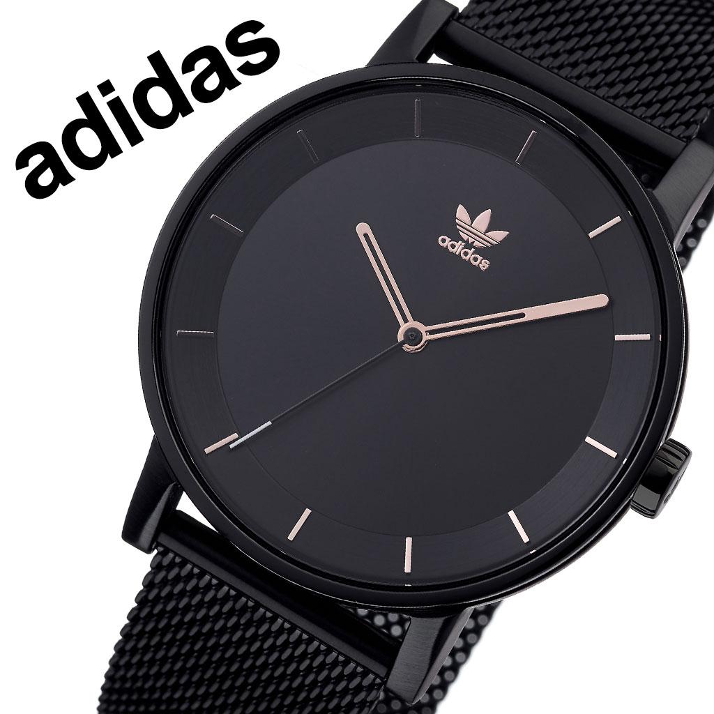 アディダス オリジナルス 腕時計 adidas Originals 時計 アディダス時計 ディストリクトエム1 DISTRICT_M1 メンズ レディース 男性 女性 ブラック Z04-3077-00 人気 おしゃれ ブランド ピンクゴールド ラウンド シンプル カジュアル スポーツ ウォッチ ギフト プレゼント