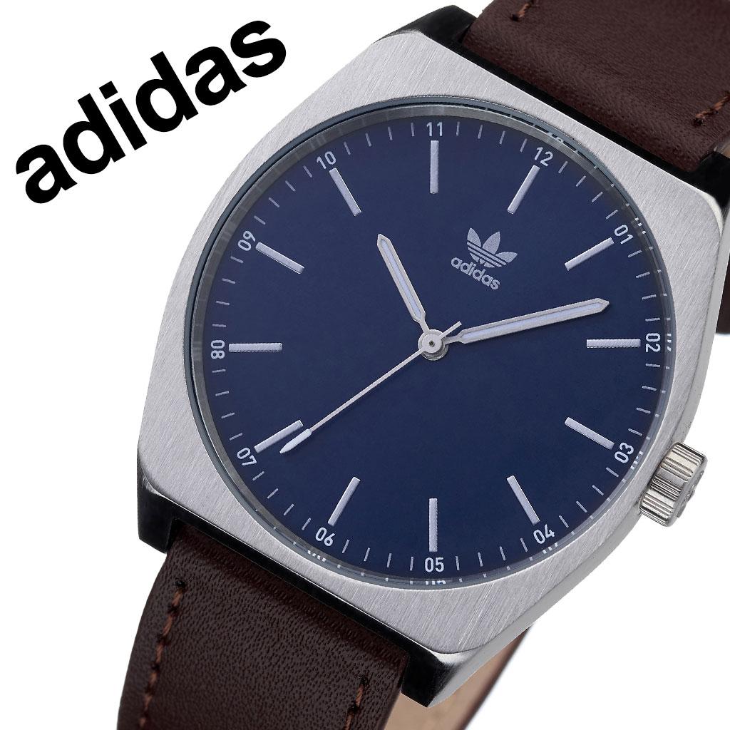 アディダス オリジナルス 腕時計 adidas Originals 時計 アディダス時計 プロセスエル1 PROCESS_L1 メンズ レディース 男性 女性 ネイビー Z05-2920-00 人気 おしゃれ ブランド シルバー ラウンド 革 シンプル カジュアル スポーツ ウォッチ ギフト プレゼント 送料無料