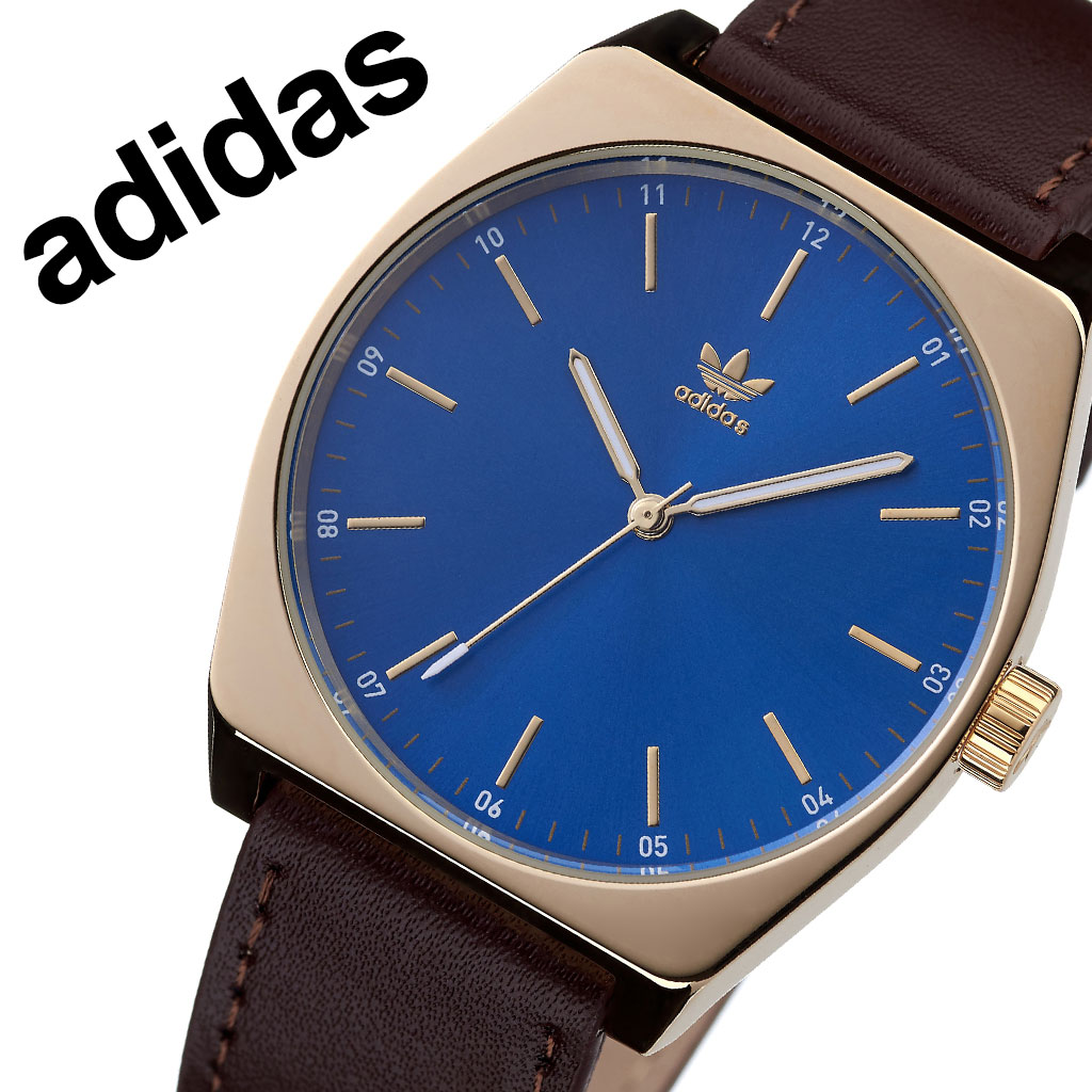 アディダス オリジナルス 腕時計 adidas Originals 時計 アディダス時計 プロセスエル1 PROCESS_L1 メンズ レディース 男性 女性 ネイビー Z05-2959-00 人気 おしゃれ ブランド ゴールド ラウンド 革 シンプル カジュアル スポーツ ウォッチ ギフト プレゼント 送料無料
