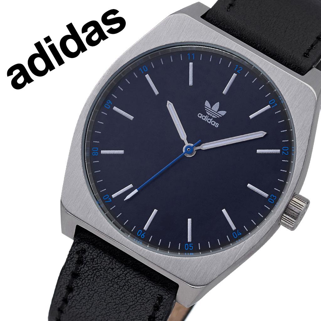 アディダス オリジナルス 腕時計 adidas Originals 時計 アディダス時計 プロセスエル1 PROCESS_L1 メンズ レディース 男性 女性 ブラック Z05-625-00 人気 おしゃれ ブランド シルバー ラウンド 革 シンプル カジュアル スポーツ ウォッチ ギフト プレゼント 送料無料