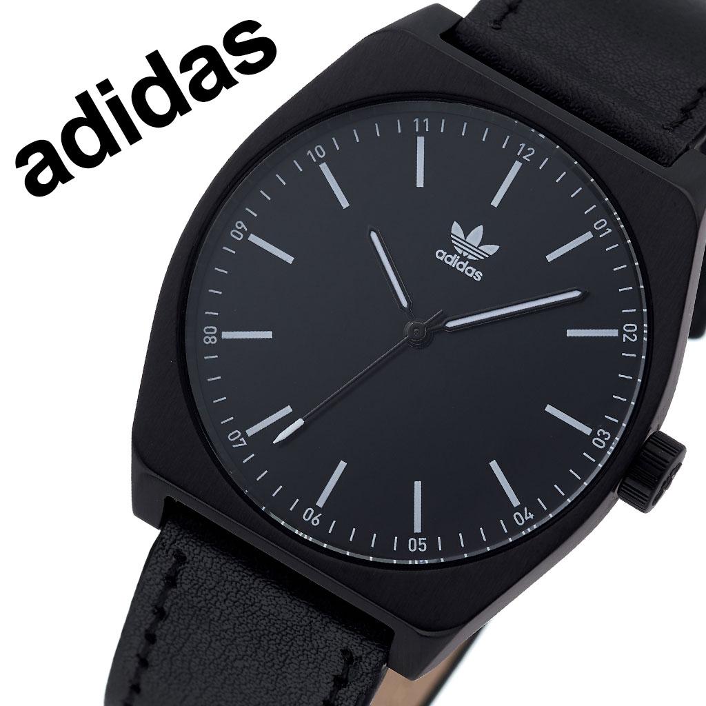アディダス オリジナルス 腕時計 adidas Originals 時計 アディダス時計 プロセスエル1 PROCESS_L1 メンズ レディース 男性 女性 ブラック Z05-756-00 人気 おしゃれ ブランド ラウンド 革 シンプル アナログ カジュアル スポーツ ウォッチ ギフト プレゼント 送料無料