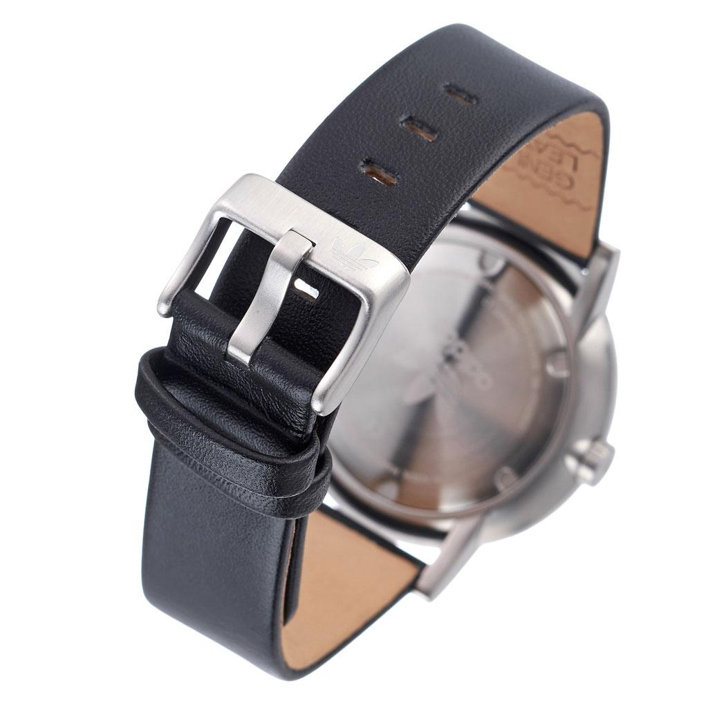 アディダス オリジナルス 腕時計 adidas Originals 時計 アディダス時計 ディストリクトエル1 DISTRICT_L1 メンズ レディース 男性 女性 グレー Z08-2926-00 人気 おしゃれ シルバー ラウンド 革 シンプル カジュアル スポーツ ウォッチ ギフト プレゼント