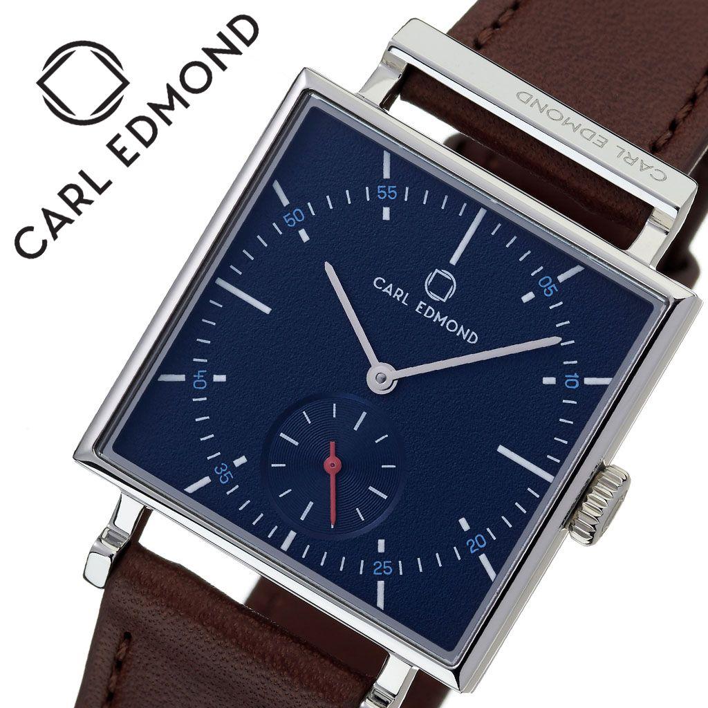 [当日出荷] カールエドモンド 腕時計 CARLEDMOND 時計 カール エドモンド CARL EDMOND グラニット Granit レディース ブルー CEG2954-RB18 [ 人気 ブランド 北欧 デザイン ミニマル 革ベルト ペアウォッチ スモールセコンド スクエア型 四角 個性的 ファッション ]