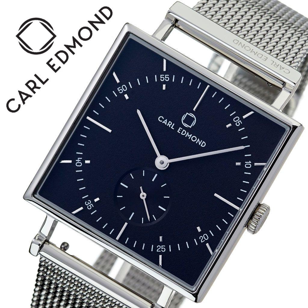 カールエドモンド 腕時計 CARLEDMOND 時計 カール エドモンド CARL EDMOND グラニット Granit メンズ レディース ブラック CEG3402-M21 [ 人気 ブランド 北欧 デザイン ミニマル スウェーデン ペアウォッチ スモールセコンド スクエア型 四角 個性的 ファッション ]
